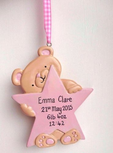 Personalised Teddy with Pink Star